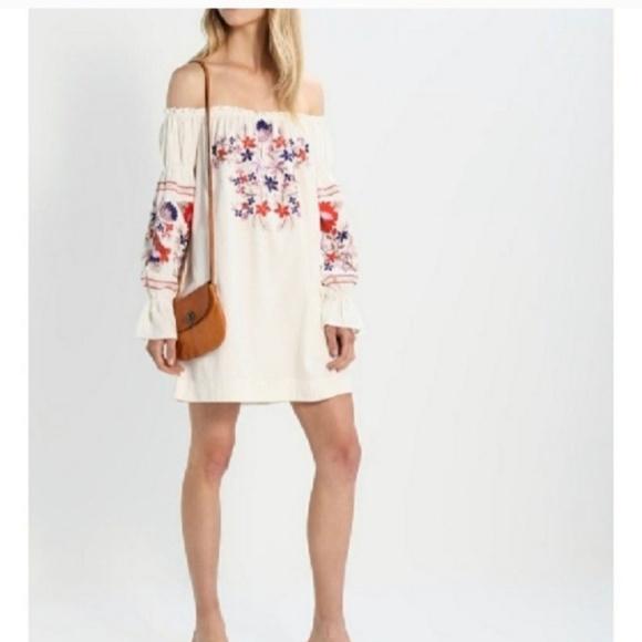 02b7285fda89 Free People Dresses   Fleur Du Jour Embroidered Mini Dress   Poshmark